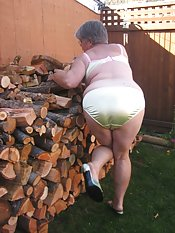 Hot Mama out at the woodpile Im waiting for you naughty boyYou might need a spanking