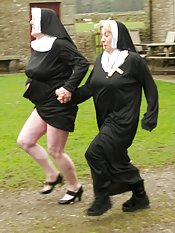 Hi Guys heres some Fun Pics shot last year on location in Cumbria while we were filming a movie Nuns On The Run and believe me guys we had a lot of fun both on and off the setClaire   xxx