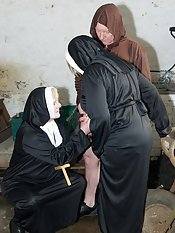 Sister Trisha and I were away on Retreat but things started to get exciting when we met Brother Malcolm The Masturbating Monk as kindly sisters we just had to help him with his penanceSister Claire