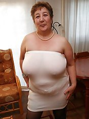 old wrinkled granny tits